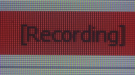 enstrüman : Sound recording indicator on the monitor Stok Video