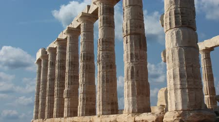 historical building : Poseidon temple ruins in Athens, Greece