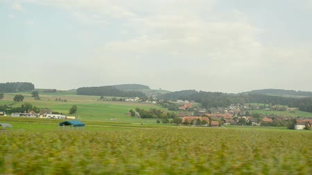 mozdony : view from the window of a train in Switzerland