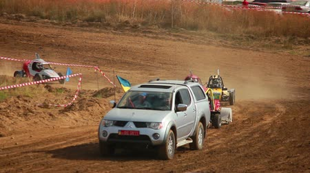 rali : Autocross on a dirt road by car buggy