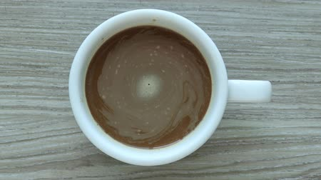 vasárnap : top view of a cup of coffee