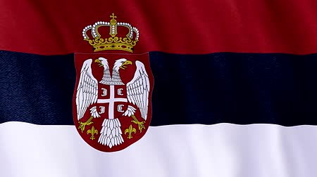 flag of Serbia Vídeos