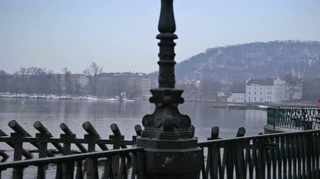 poezja : River embankment. Prague Wideo