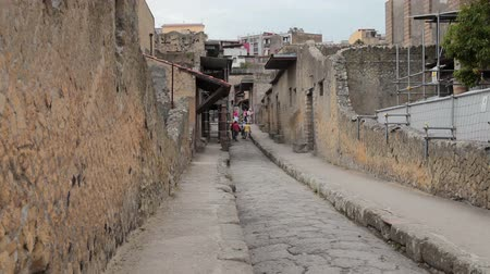 destroyed building : Ruins of Herculaneum, Italy