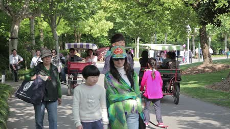 park paths : Shanghai City Park Stock Footage