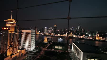 plano : Waitan embankment of Shanghai