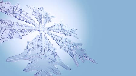 yumuşaklık : Big Christmas Snowflake On Clean Blue Background.