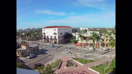 Busy Ventura intersection time lapse of pedestrian and vehicle traffic