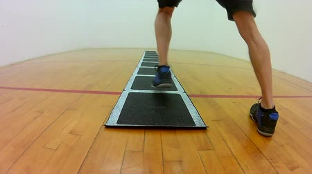Athletic agility movement icki shuffle ladder footwork drill