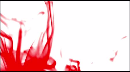 red background : Smoke & Fume (red blood color) falling, white background. Fire not in shot.