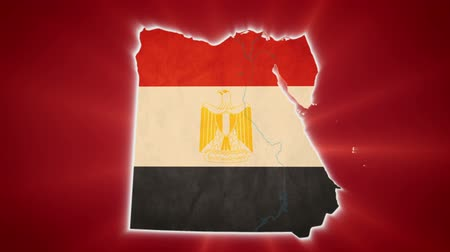 teargas : Egypt map with Egyptian flag, red background, conflict civil war