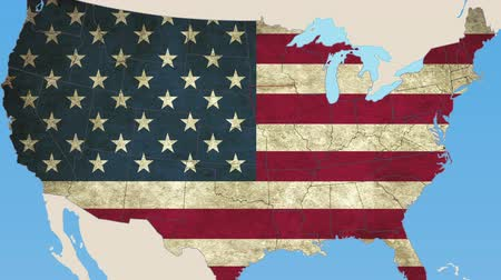 iowa : Iowa pull out, smooth USA map, all states available Stock Footage
