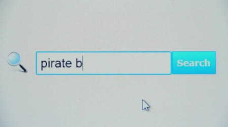 ficção : Pirate bay - browser search query, Internet web page