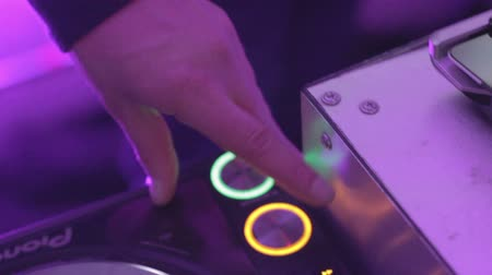 tweak : Dj platter controls tweaking in nightclub dance disco