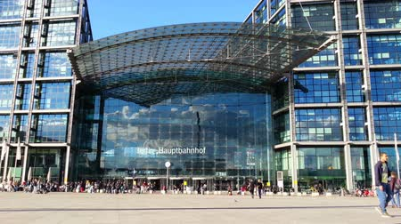 bahnhof : Front view of Berlin Hauptbahnhof, main railway station in capital of Germany