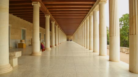 reconstructed : Inside the reconstructed Stoa of Attalos, Museum of Ancient Agora in Athens
