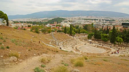 dionysus : Panorama view of tourist attractions in Athens, cultural heritage conservation