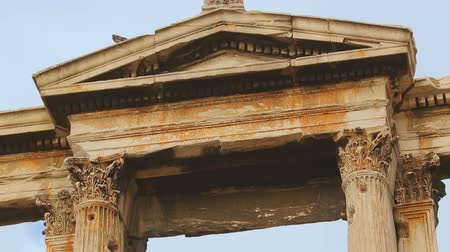 pilasters : Tall pilasters crowned with Ionic architrave, Hadrians Gate in Greek capital