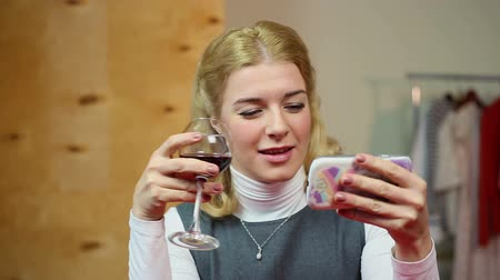 ex boyfriend : Drunk blonde chatting with her ex-boyfriend on cellphone, alcoholism, bad habits