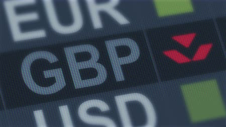 gazdasági pangás : British pound falling. World exchange market default. Global financial crisis