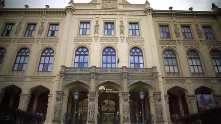 dik : View on famous Bavarian State Museum of ethnology in Munich, sightseeing tour