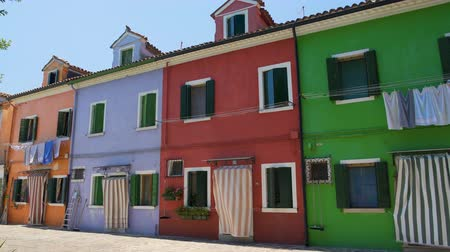 kept : Famous multicolored houses on Burano island in Venice Lagoon, travel to Italy