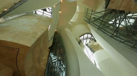roomy : Unusual and contemporary interior design of Guggenheim museum in Bilbao, Spain