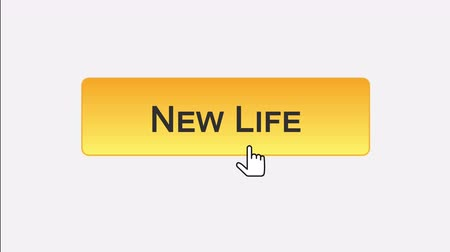 solução : New life web interface button clicked with mouse cursor, different colors
