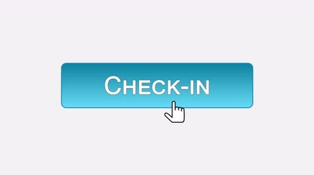 checkbook : Check-in web interface button clicked with mouse cursor, different color choice