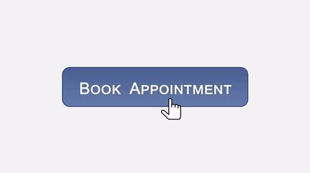 щелчок : Book appointment web interface button clicked with mouse, different color choice
