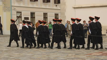 nákrčník : Guard of honour of Zagreb marching on Saint Marks square, Cravat Regiment