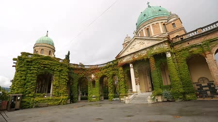 hera : Wonderful panorama of ancient church Of Christ the King, Mirogoj cemetery park
