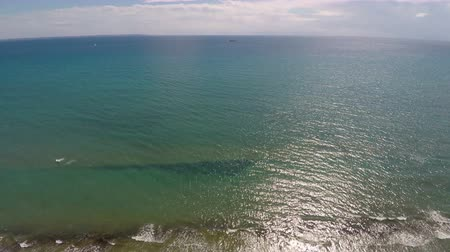 unmanned aircraft : Freshness and tranquility of Mediterranean Sea, aerial view of endless water