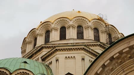 nevsky : Architectural elements of Alexander Nevsky Church in Sofia, touristic attraction
