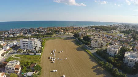 szénaboglya : Breathtaking aerial view of beautiful town located on shore of Mediterranean Sea