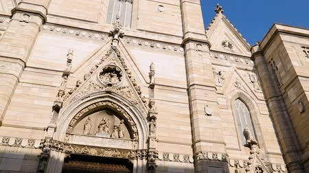 assumption : Exterior of  Roman Catholic cathedral of the Assumption of Mary, architecture Stock Footage