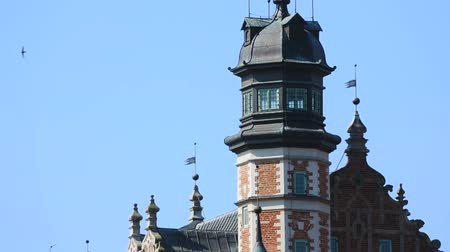 museum : Stunning view of dome of House of the Natural Science Society in Gdansk, Poland