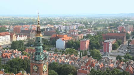 townhouse : Stunning view from the top on central Gdansk and Main City Hall, architecture
