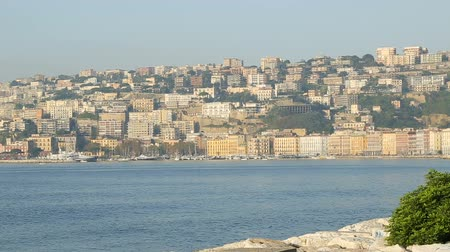 neapol : Panorama of gulf and architecture of Naples, beautiful landscape, sequence