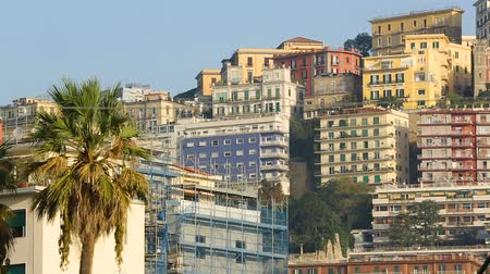 neapol : Beautiful architecture of Naples city, view of buildings and sculptures, Italy Wideo