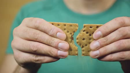 cracknel : Person on a gluten-free diet, male eating a biscuit, nutrition, weight loss
