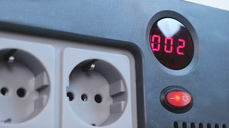 socket : Electric timer counting down to common electricity voltage, AC power plugs
