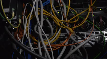 cabling : Tangled wires, power cables in datacenter, cleaning up server room cabling mess