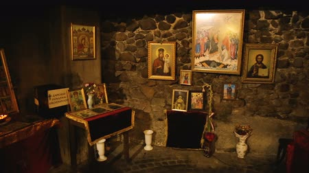patron : Interior of Church of Saint Petka in Sofia, Bulgaria, holy images of saints