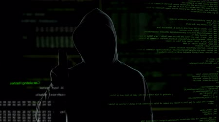 roubo : Connection established, anonymous cyberattack threatens national security Stock Footage