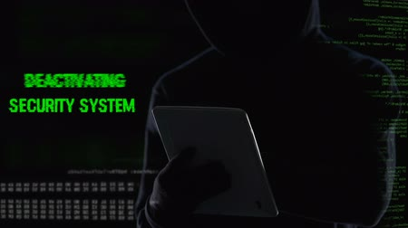 átadó : Anonymous hacker remotely deactivating security system, power supplied stopped