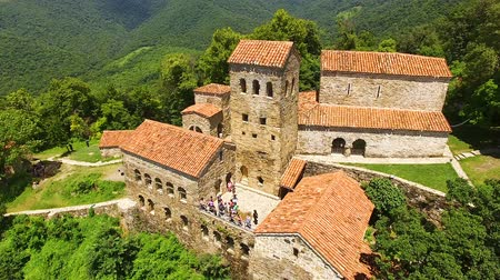 gürcü : Exterior of famous ancient Nekresi monastery in Alazani valley, summer tourism