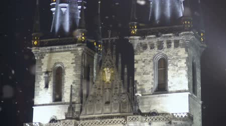 barocco : Vintage elements Prague Castle facade, ancient European architecture, heritage