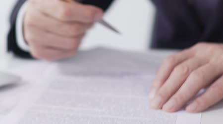 lucrative : Company president signing business contract, international cooperation, close-up