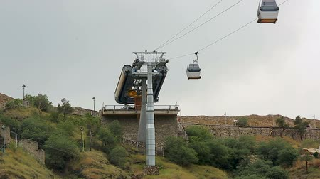 eurasia : Modern cable car system carrying passengers from city center to park, Tbilisi